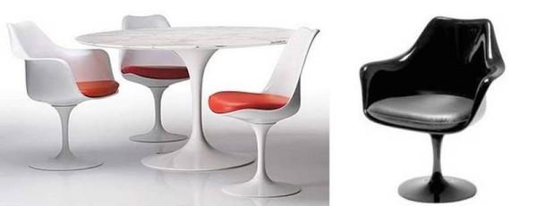 design cadeira tulipa e mesa tulipa