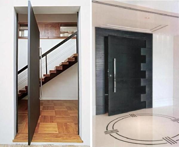 porta de entrada preta bonita atual moderna assim eu gosto