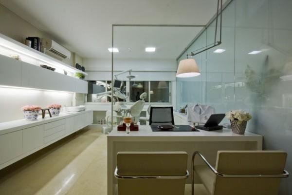 projeto clinica dentista sala cadeira mesa iluminacao