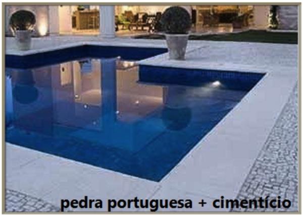 assim eu gosto piso de pedra portuguesa e cimenticio