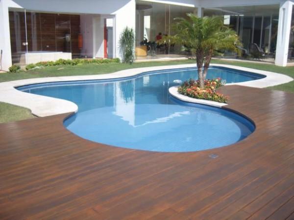 piso de madeira area externa
