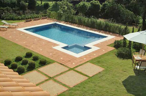piso piscina ceramica rustica