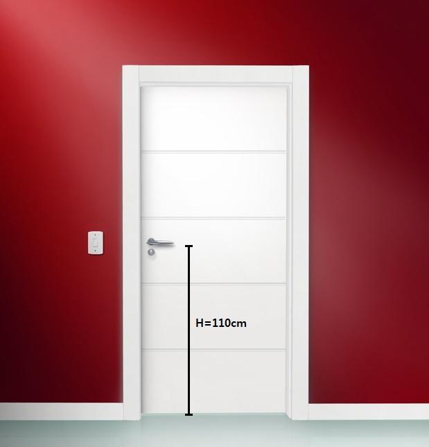 altura da macaneta na porta