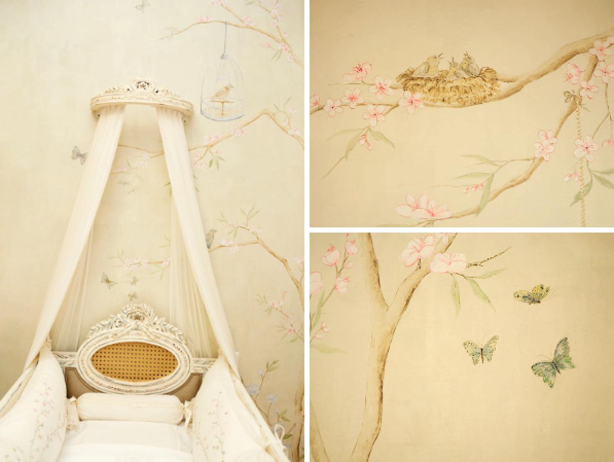 parede com pintura feita a mao