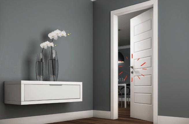 porta e alisar laca branca