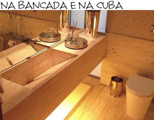 CUBA DE MARMORE TRAVERTINO