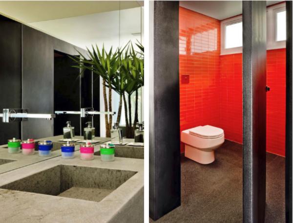 banheiro pastilha colorida
