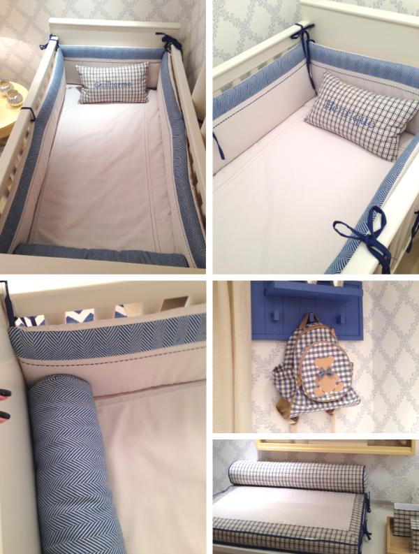 detalhes enxoval bebe kit berco menino