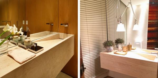 lavabo marmore travertino
