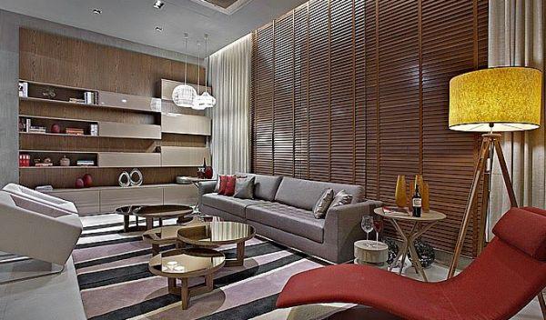 sala grande cortina com persiana
