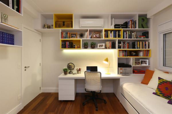 Quarto de h spedes e escrit rio em casa assim eu gosto - Escritorios para casas ...