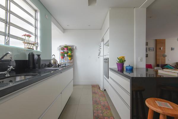 cozinha de apartamento integrada