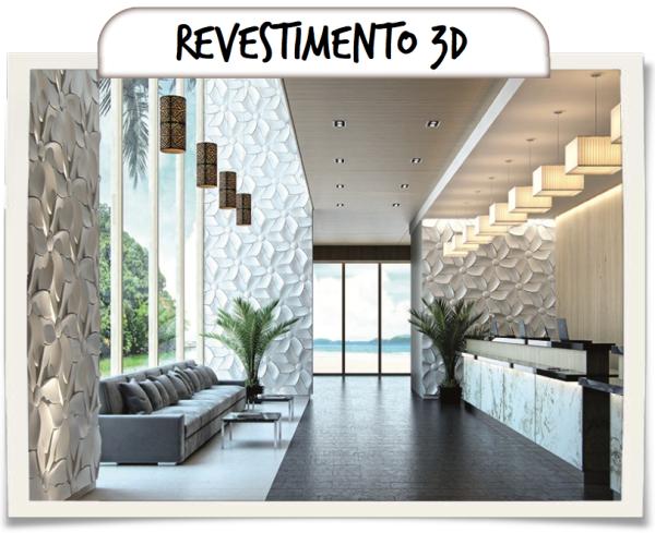 PAREDE COM REVESTIMENTO 3D