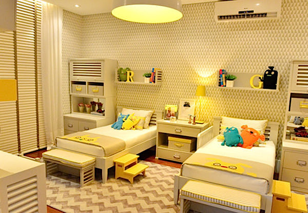 decoracao quarto de crianca com mini cama