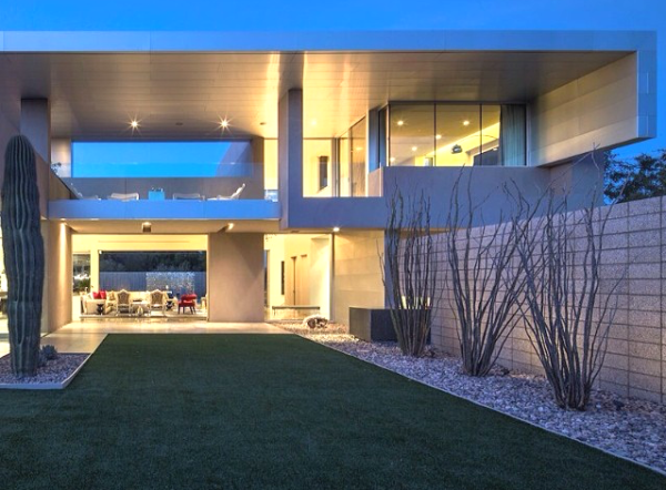 fachada casa concreto aparente