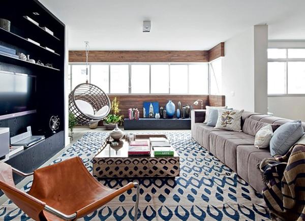 tapete geometrico kilim estampado decoracao moderna assim eu gosto