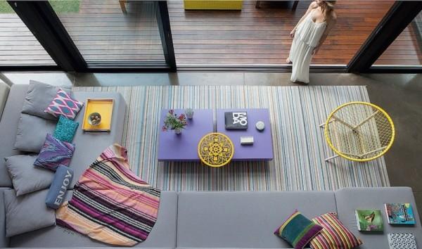 tapete listrado colorido
