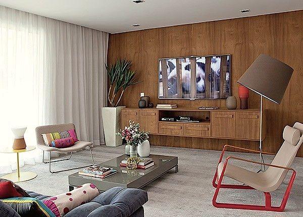assim eu gosto sala tv estante painel madeira