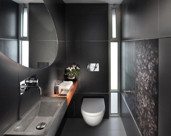 banheiro preto bonito moderno atual lavabo chique