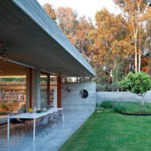 Casa de concreto aparente