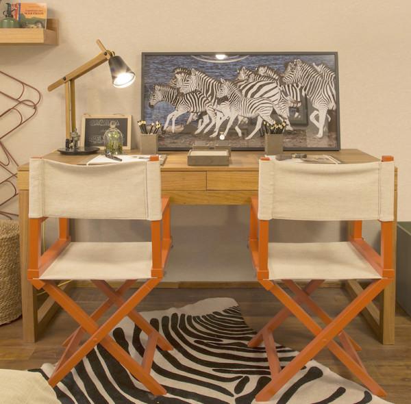 decor atual quarto crianca colorido madeira laranja