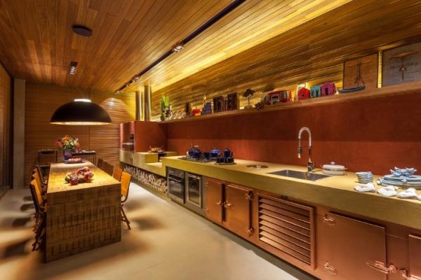 forro e parede de madeira na cozinha projeto denise vilela blog assimeugosto
