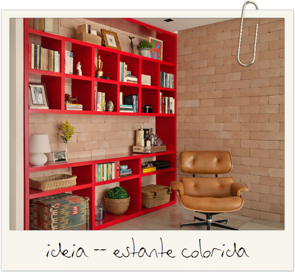 ideias de decoracao estante colorida no ambiente neutro assim eu gosto