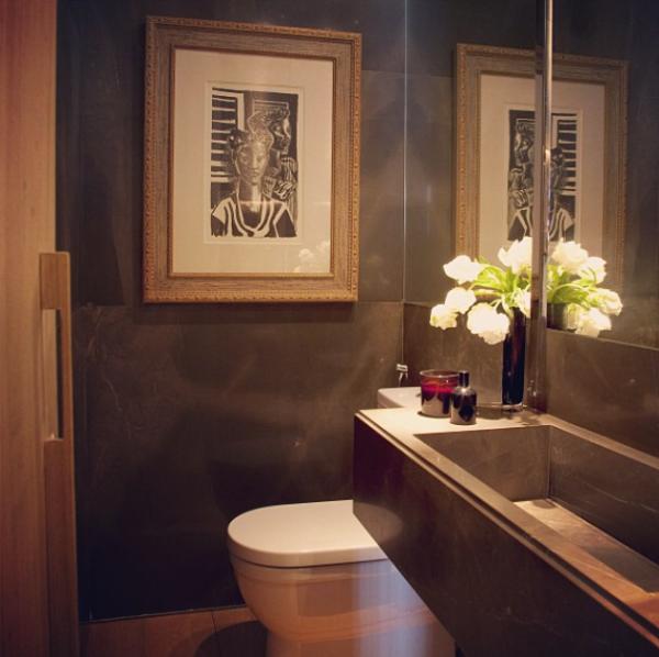 lavabo escuro projeto arquiteto david barros