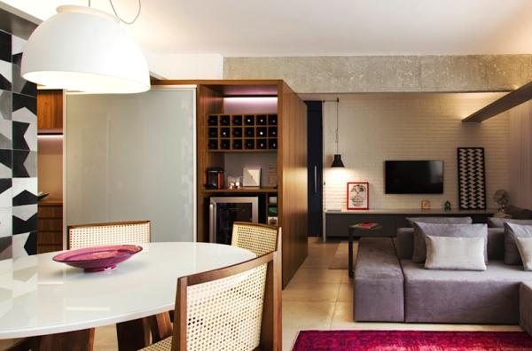loft moderno mesa oval piso concretissima portobello sofa duplo