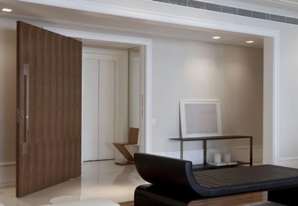 porta de entrada modena madeira puxador cromado