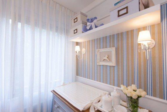 quarto de bebe menino com papel de parede bege e azul blog assim eu gosto