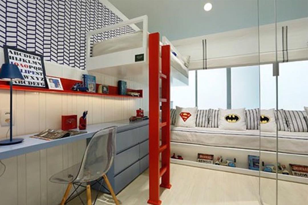 Decora o de quartos de crian as com cama no alto - Cama en alto ...