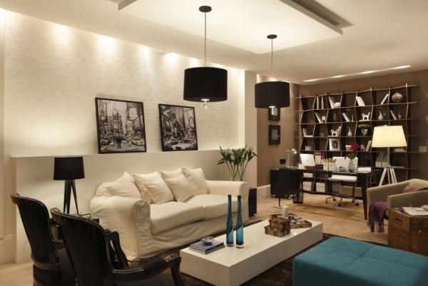 sala contemporanea decoracao tijolo aparente ilumincao morar mais