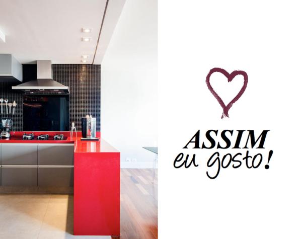 cozinha com bancada vermelha blog assim eu gosto