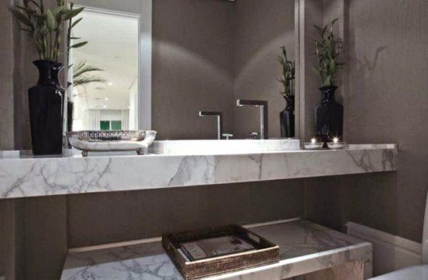 Projeto Debora Aguiar banheiro lindo marmore chique