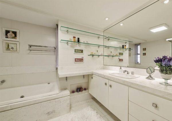 assim eu gosto banheiro branco banheira cuba embutida
