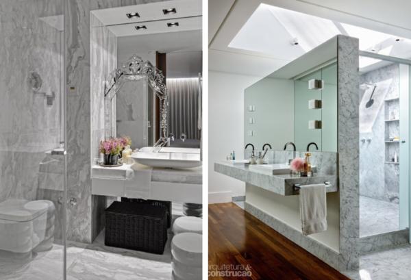 assim eu gosto banheiros lindos atuais modernos bonitos decor marmore
