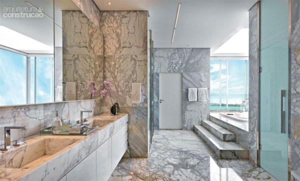 assim eu gosto casa banheiro paredes marmore estatuario