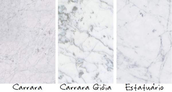 assim eu gosto tipos de marmore carrara