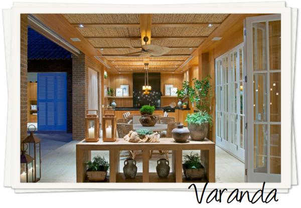 assim eu gosto varanda teto bambu madeira ventilador