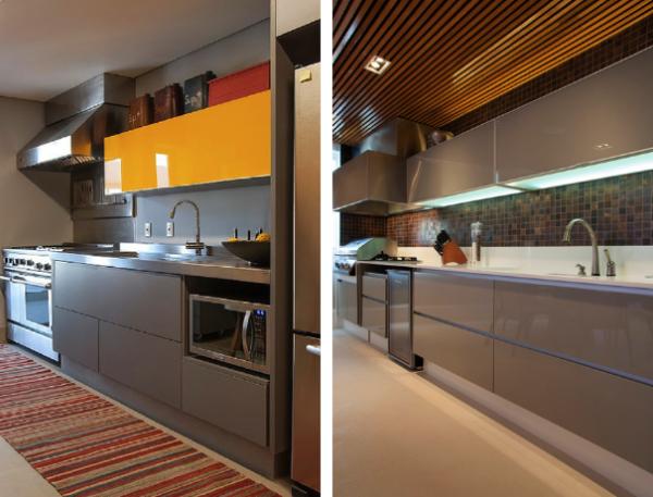 cozinha bancada inox moderna atual 2016