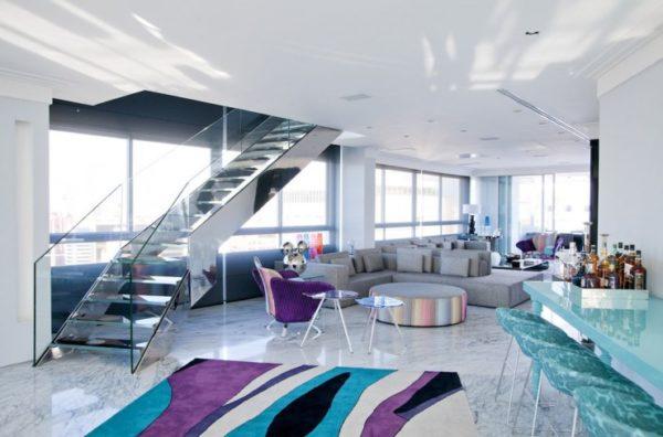 decoracao apartamento piso marmore carrara