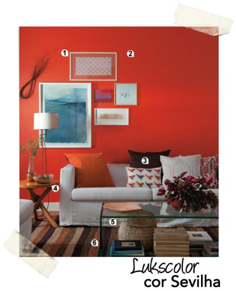 parede cor tinta laranja lukscolor sevilha