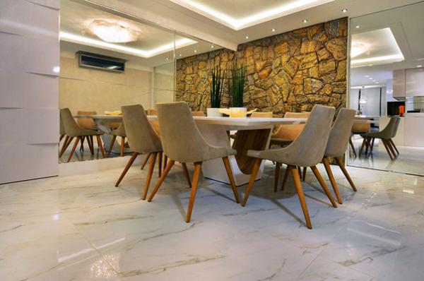 projeto decoracao casa bonita piso porcelanato claro porto design