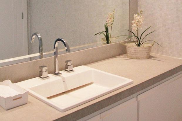 banheiro bancada limestone assim eu gosto blog