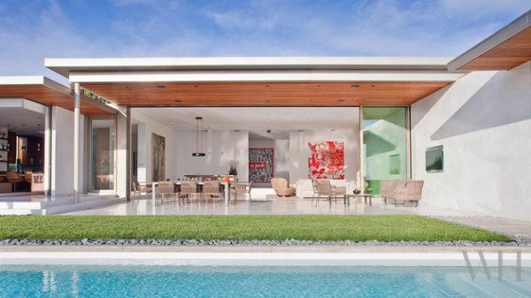 casa contemporanea area de lazer varanda integrada com a sala