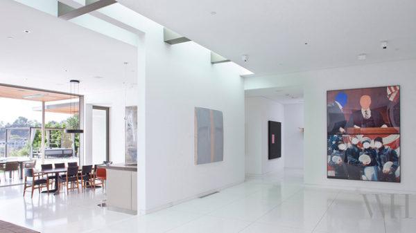 casa contemporanea claraboia iluminacao natural