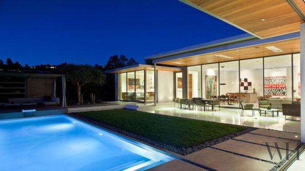 casa contemporanea varanda integrada jardim piscina