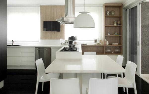 Another Image For Cozinha Planejada Americana Preta E Branca 4