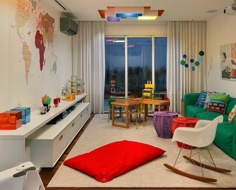 Sala íntima e brinquedoteca assim eu gosto decoração e arquitetura